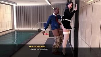 Шлюха-домохозяйка с прищепками на девушках всовывает в вагину розовый вибратор и самотык на полу